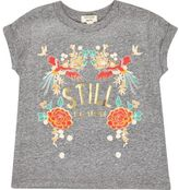 River Island Mini girls grey floral print T-shirt