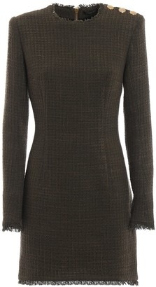 Balmain Fitted Long-Sleeved Dress