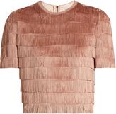 Raey Short-sleeved fringed top