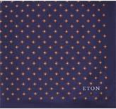 Eton Flower Pattern Silk Pocket Square