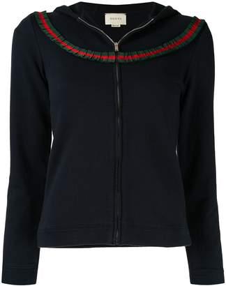 Gucci Pre-Owned Web stripe trim hoodie