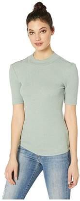 Free People Good Vibes Tee (Moss) Women's T Shirt