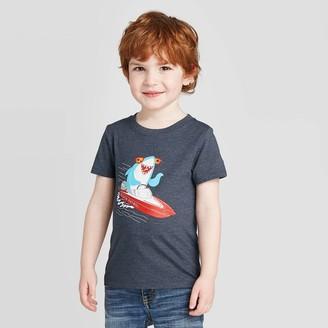 Cat & Jack Toddler Boys' Short Sleeve Shark Boat Graphic T-Shirt - Cat & JackTM
