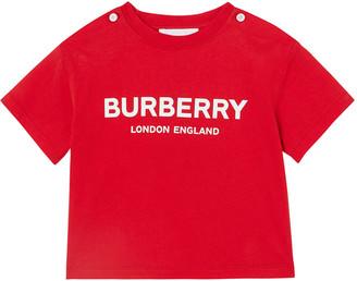 Burberry Robbie Cotton Logo Tee, Size 6M-2