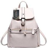 Donalworld Woen's PU Leather College Backpack Travel School Shoulder Bag