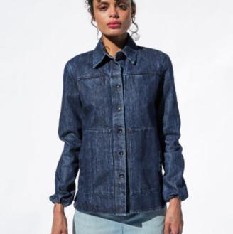 Happy Haus - Indigo Denim Worker Jacket - small | cotton | indigo - Indigo