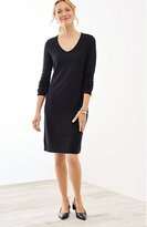 J. Jill Wearever Ottoman-Knit V-Neck Dress