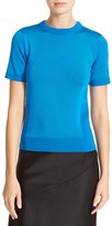 DKNY Women's Contrast Trim Crewneck Sweater