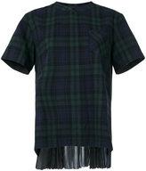 Sacai flannel plaid shirt