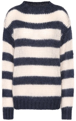 Prada Striped wool and mohair-blend sweater