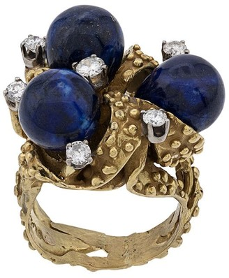 Lapis 1970s 18kt Unique Diamond ring