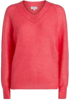 Claudie Pierlot Knit V-Neck Sweater