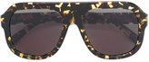 Stella McCartney chain-trimmed visor sunglasses