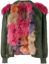 Mr & Mrs Italy Raccoon Fur-Trimmed Bomber Jacket