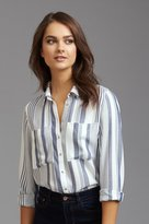 Dynamite Striped Shirt with Pockets