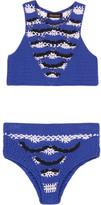 Tabula Rasa - Eros Crocheted Cotton-blend Bikini - Bright blue