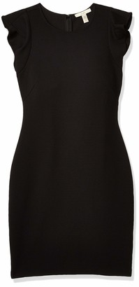 Lark & Ro Women's Sleeveless Sheath Dress with Ruffle
