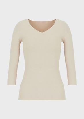 Giorgio Armani Seamless, Moss-Stitch Knit Sweater