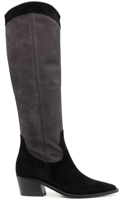 Via Roma 15 Suede-Leather Western-Boots