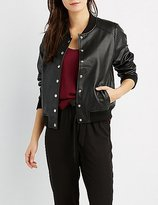 Charlotte Russe Faux Leather Bomber Jacket