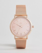 Asos Rose Gold Clean Mesh Strap Watch