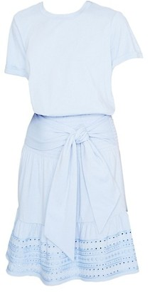 Parker Fleur Eyelet Hem Mini Dress