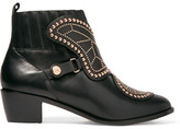 Sophia Webster Karina Butterfly Studded Leather Ankle Boots - Black