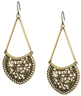 Lucky Brand Lace Openwork Large Earrings