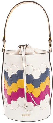 Mianqa Feride Cylinder Woven Bag White