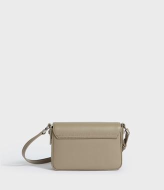 AllSaints Captain Leather Mini Flap Crossbody Bag
