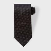 Paul Smith Men's Black Pin Dot Silk Tie
