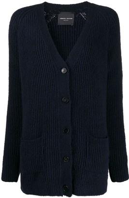 Roberto Collina V-neck cable knit cardigan