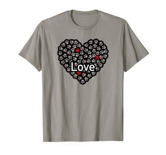 Animal Paw Print Shirts By Creative Crow Love Dogs Paw Print Heart for Dog Lovers T-Shirt