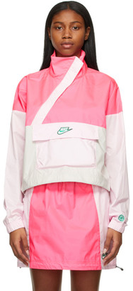 Nike Pink and Beige NSW Icon Clash Jacket