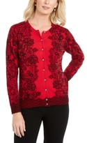 Karen Scott Lace-Print Cardigan, Created for Macy's