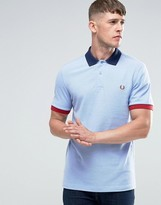 Fred Perry Polo Shirt With Contrast Trim In Light Smoke