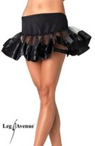 Leg Avenue Women's Satin Trimmed Petticoat Dress, Black/White