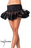 Leg Avenue Women's Satin Trimmed Petticoat Dress