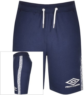 Pretty Green X Umbro Sweat Shorts Navy