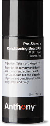 Anthony Logistics For Men Pre-shave + Conditioning Beard Oil, 59ml - Colorless