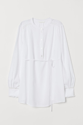 H&M MAMA Blouse with a tie belt
