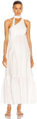 Zimmermann Juliette Tie Neck Dress in Ivory | FWRD