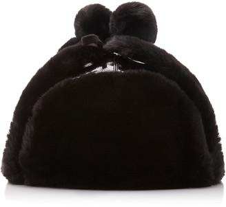 Eric Javits Patent Trooper Faux Fur-Lined Vinyl Hat
