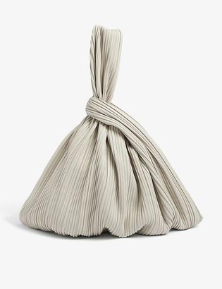 Nanushka Jen pleated vegan-leather tote bag