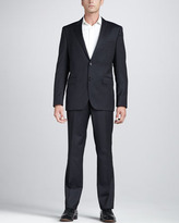 HUGO BOSS Check Suit, Navy