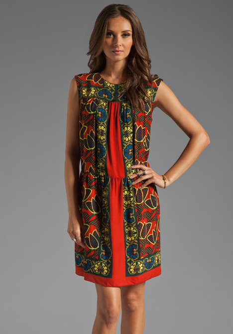 Anna Sui Forest Scroll Panel Dress