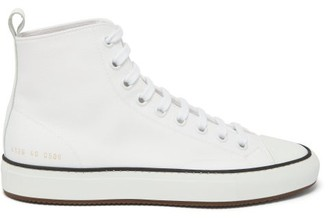 Common Projects Tournament High-top Canvas Trainers - Womens - White