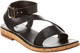 Soludos Kai Leather & Cork Sandal
