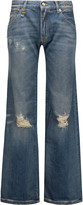 R 13 The Jane mid-rise distressed flared jeans