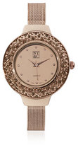 New York & Co. Sparkling Mesh Band Watch